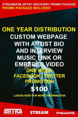 Streamapse Music Group Announces Artist Discovery Promo Package Special